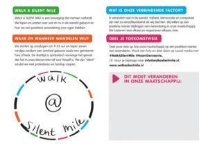 Walk A Silent Mile Card Dutch